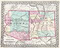 1877 Mitchell Map of Arizona and New Mexico - Geographicus - AZNM-mitchell-1877.jpg