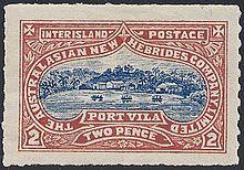 New Hebrides Inter Island Postage Stamp