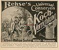 1902 circa Werbung Albert Rehse Sohn Wülfel Hannover Universal-Conserven mit Kochvorrichtung.JPG