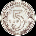 1909–1910 reverse, CENTS running across a large 5