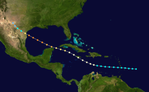 1916 Texas hurricane - Image: 1916 Atlantic hurricane 6 track