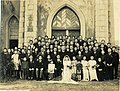 1946-12-26賴永祥與劉慶理在臺灣臺北市中山基督長老教會的婚禮 Wedding of Elder John Young-hsiang Lai and Ching-Li Liu in Taipei, TAIWAN.jpg