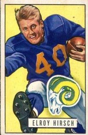 Elroy Hirsch - 1951 Bowman card of Hirsch