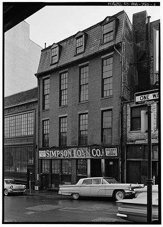 Brattle Street (Boston) - Image: 1962 Brattle St Boston by C Robinson HABS MA790