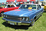 1974 AMC Ambassador sedan blue-white Kenosha-f.jpg