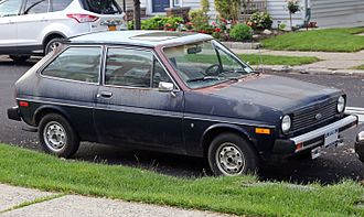 Ford Fiesta (first generation) - Image: 1979 Ford Fiesta Ghia (US), front right