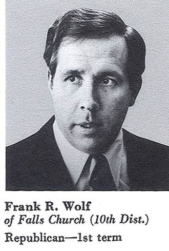 Frank Wolf (politician) - 1981, Congressional Pictorial Directory, Wolf as a first term Congressman