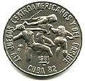 1 песо. Куба. 1981, XIV игры Центральной Америки и Карибского бассейна - Три атлета.jpg