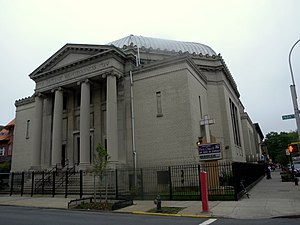 Church of God in Christ - First Church of God in Christ at Park Place and Kingston Avenue in Brooklyn, New York; it took over a former synagogue