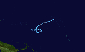 1972 Pacific typhoon season - Image: 2 W 1972 track