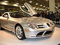 2005 silver Mercedes SLR front.JPG