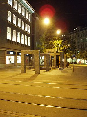 Max Bill - Pavillon-Skulptur (1983), Zürich, by Max Bill