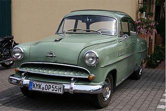 Opel Rekord - Image: 2007 06 10 Opel Olympia Rekord, Bj. 1955 (retusch)