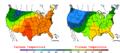 2007-10-06 Color Max-min Temperature Map NOAA.png