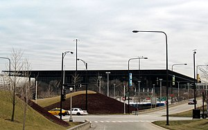 McCormick Place - Lakeside Center looking south from Lake Shore Drive and 18th Street in 2007