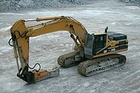 2008-08-17 CAT 345B with hammer attachment.jpg