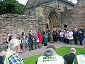 2010 Kilwinning Abbey archaeological dig.JPG