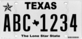 2012 Texas license plate ABC 1234.png