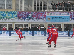 2012 Bandy World Championship - The final match between Russia (pictured) and Sweden.