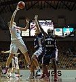 2013 Virginia Tech - Robert Morris - Vanessa Panousis jump shot.jpg