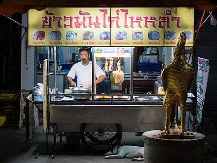 0e98b1fea93 Typisk gadekøkken på hjul, der sælger