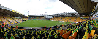 Norwich City F.C. - A panoramic shot of Carrow Road in 2015