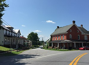 Fairplay, Maryland - Houses along Fairplay Road and Spielman Road in Fairplay