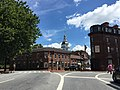 2016-08-17 11 30 24 View east along Maryland State Route 450 (Church Circle) at Duke of Gloucester Street in Annapolis, Anne Arundel County, Maryland.jpg