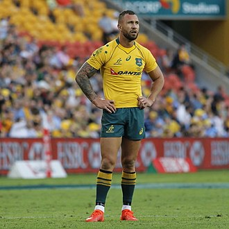 Quade Cooper - Cooper playing against Italy in 2017