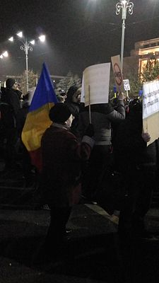 2017 Romanian protest - old woman.jpg