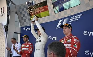 2017 Russian Grand Prix - Podium