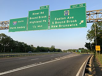 Franklin Township, Somerset County, New Jersey - I-287 in Franklin, the largest and busiest highway in the township