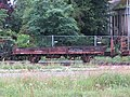 2018-06-28 (304) Building material wagon for overhead line master of the Mariazellerbahn at Bahnhof Ober-Grafendorf.jpg