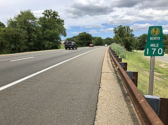 Woodcliff Lake, New Jersey - The Garden State Parkway northbound in Woodcliff Lake
