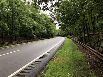 Palisades Interstate Parkway - Typical scene along the Palisades Interstate Parkway. This view in particular is looking southbound in Tenafly, New Jersey.