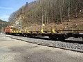 2019-03-03 (204) NÖVOG 93102 rail service vehicle at Bahnhof Schwarzenbach an der Pielach, Frankenfels, Austria.jpg