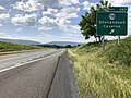 2019-06-06 10 05 12 View south along Interstate 81 at Exit 269 (Virginia State Route 730, Shenandoah Caverns) in Mount Jackson, Shenandoah County, Virginia.jpg