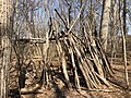 2021-03-11 14 02 14 A makeshift fort made out of logs in a forested areas within the Franklin Farm section of Oak Hill, Fairfax County, Virginia.jpg