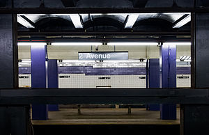 Second Avenue (IND Sixth Avenue Line) - View across the platforms at Second Avenue