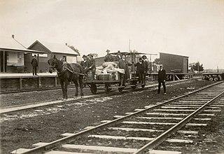 Welshpool Jetty railway line