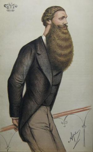 Edward Bootle-Wilbraham, 1st Earl of Lathom - Lord Skelmersdale caricatured in Vanity Fair magazine, 1871.