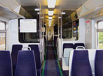 British Rail Class 322 - The original interior of the Stansted Express Class 322