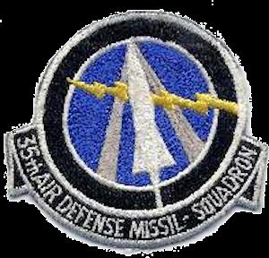 Niagara Falls Air Force Missile Site - Image: 35th Air Defense Missile Squadron ADC Emblem