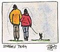 3 - Sascha Grosser - Zeichnung Starkes Team - Paar mit Hund.jpg