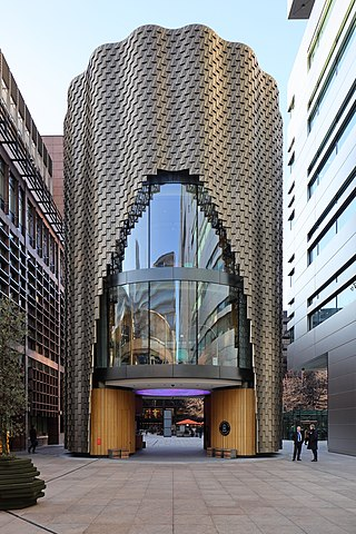3 Broadgate, a marketing suite for queries about leasing office space in the Broadgate estate