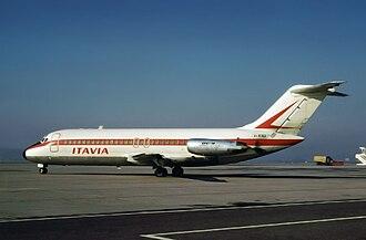 Munich-Riem Airport - Aerolinee Itavia DC-9 registration I-TIGI seen at the airport in 1972, This Aircraft went down as Flight 870.