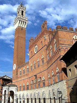 How Buildings Learn - In How Buildings Learn, Stewart Brand cites the example of Palazzo Pubblico in Siena as a building that was constructed in sections over 500 years, eventually evolving to its present state, and which continues to be renovated and remodeled as required by its users.