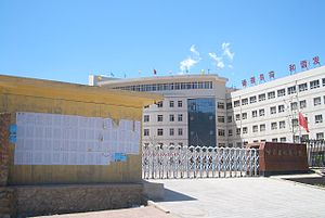 Education in China - Lists of newly admitted students - complete with their home communities, test scores, and any extra points they derived due to their ethnicity or family size - posted outside of Linxia High School