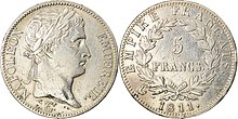 Silver coin: 5 francs, 1811 (Source: Wikimedia)