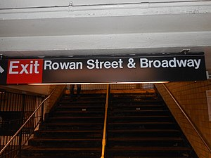 65th Street (IND Queens Boulevard Line) - Image: 65th Street IND Queens; Rowan & B'Way Exit